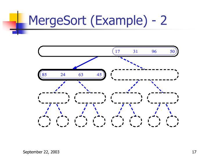 MergeSort (Example) - 2