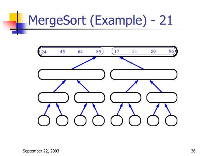 MergeSort (Example) - 21