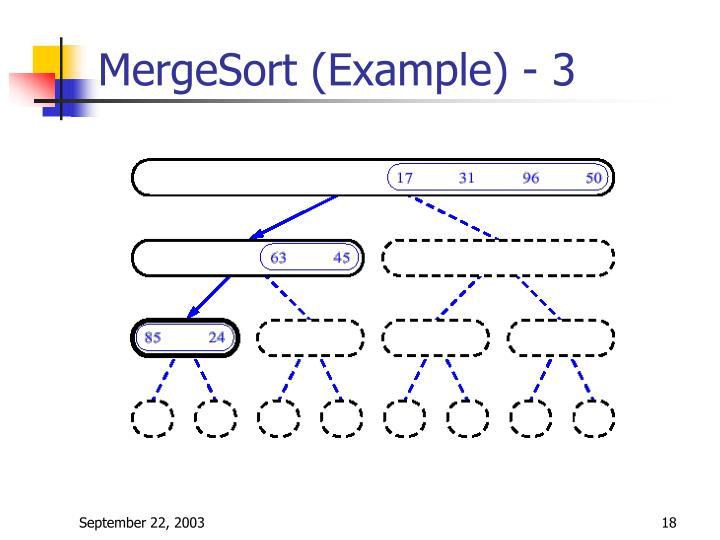 MergeSort (Example) - 3