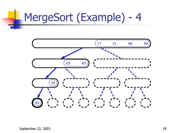 MergeSort (Example) - 4