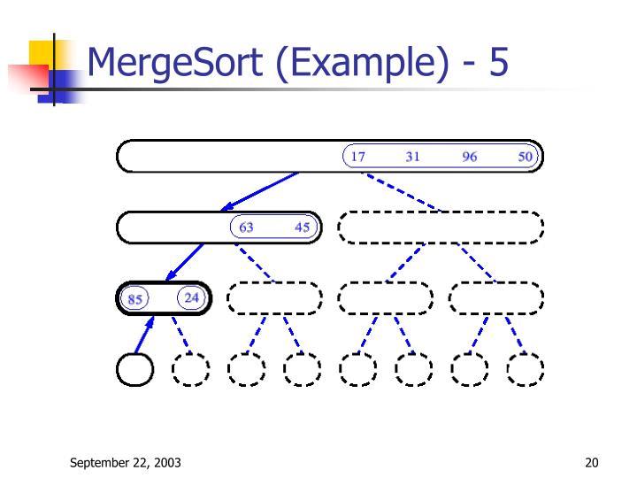 MergeSort (Example) - 5
