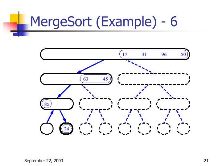 MergeSort (Example) - 6