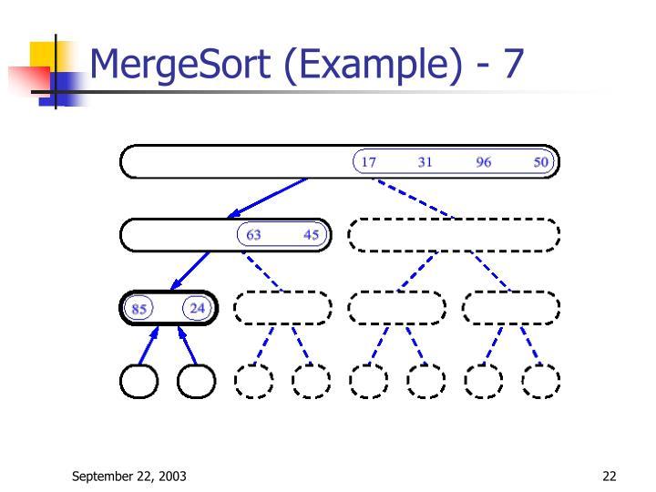 MergeSort (Example) - 7