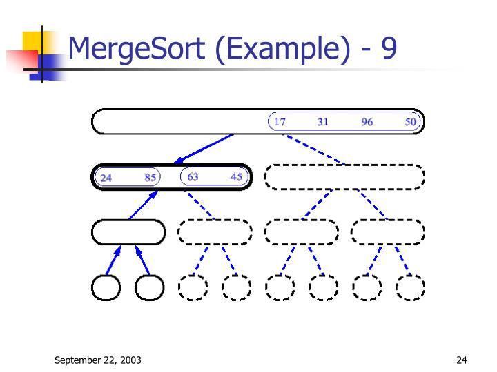 MergeSort (Example) - 9