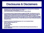 disclosures disclaimers