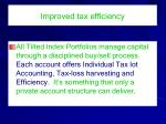 improved tax efficiency