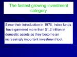 the fastest growing investment category