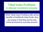 tilted index portfolios a rational investment process