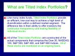 what are tilted index portfolios1