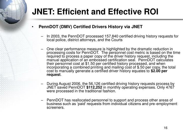 JNET: Efficient and Effective ROI