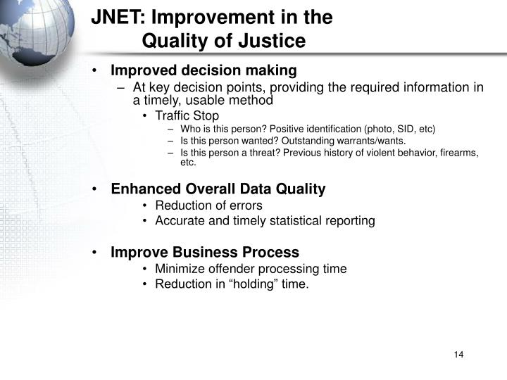 JNET: Improvement in the