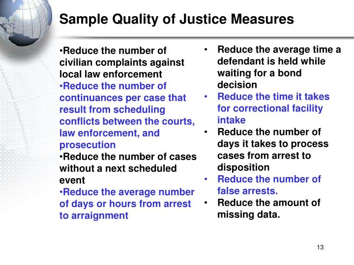 Sample Quality of Justice Measures