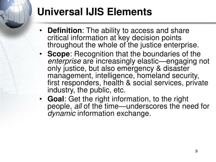 Universal IJIS Elements