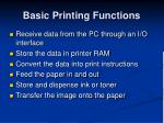 basic printing functions