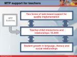mtp support for teachers