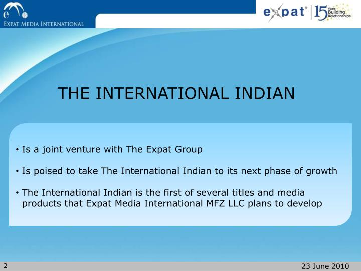 THE INTERNATIONAL INDIAN