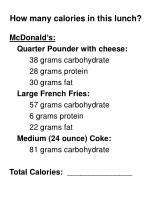 how many calories in this lunch
