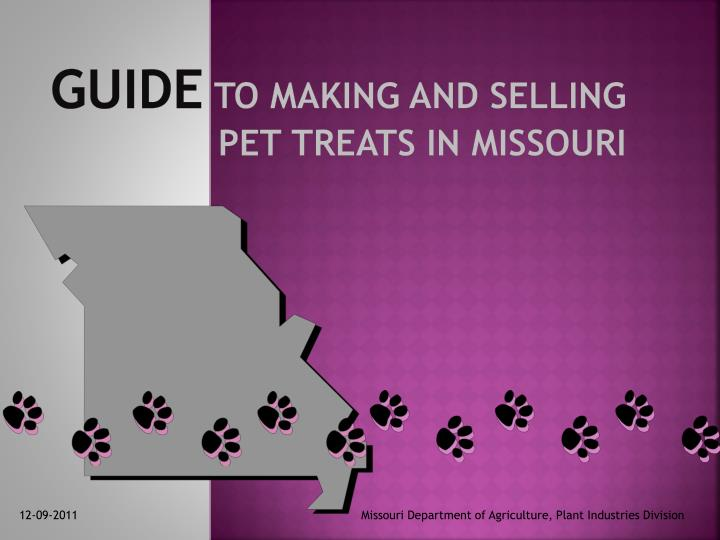 guide to making and selling pet treats in missouri n.