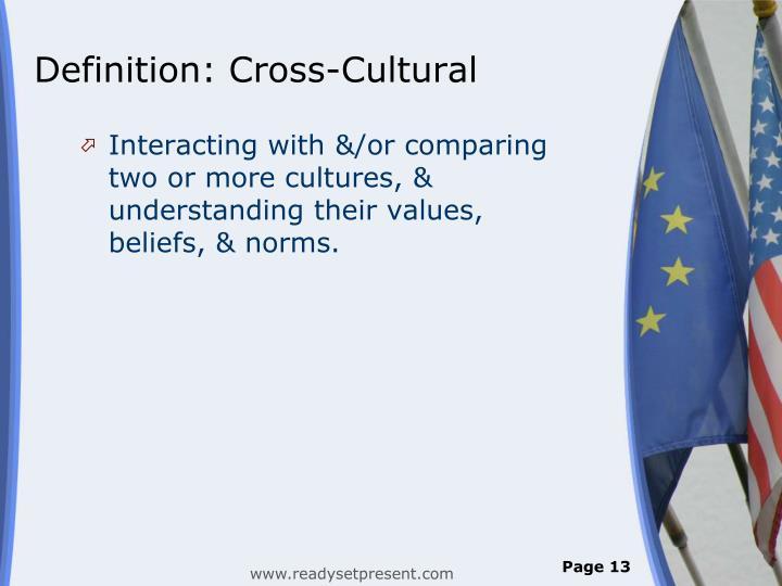 Definition: Cross-Cultural