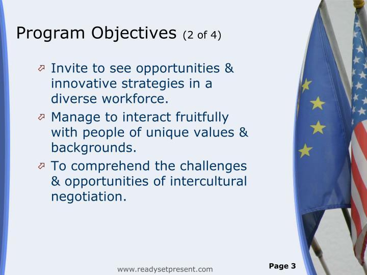 Program objectives 2 of 4