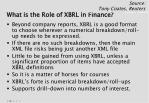 what is the role of xbrl in finance