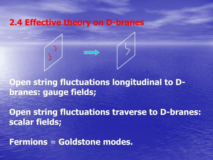 2.4 Effective theory on D-branes
