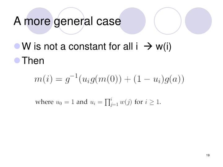 A more general case