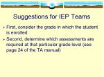 suggestions for iep teams