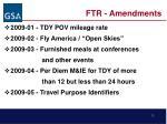 ftr amendments