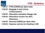 ftr bulletins