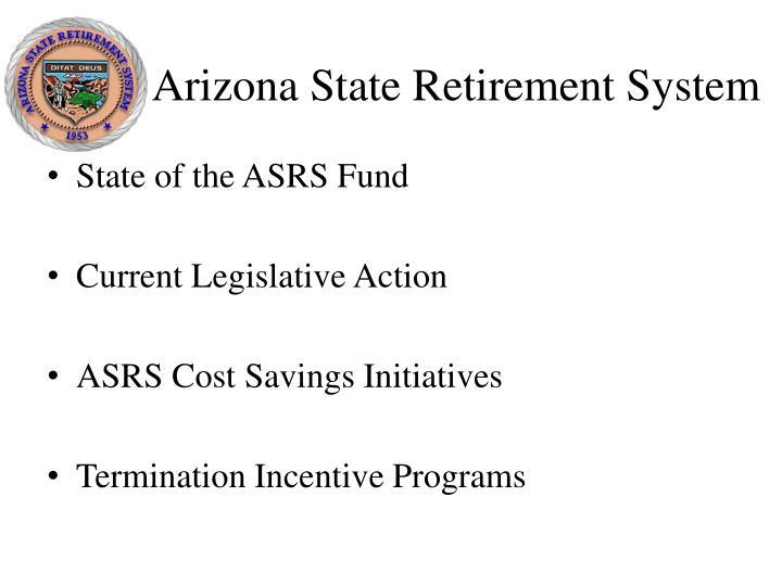 Arizona state retirement system1