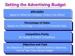 setting the advertising budget
