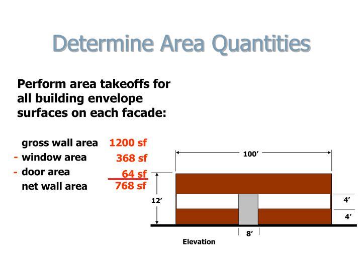 Determine Area Quantities