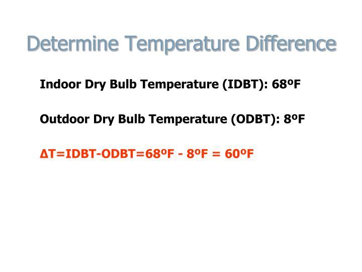 Determine Temperature Difference