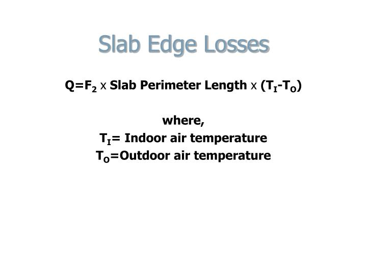 Slab Edge Losses