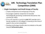 air technology translation plan competition 4m