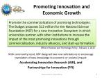 promoting innovation and economic growth