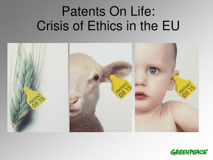 patents on life crisis of ethics in the eu
