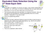 equivalent state detection using the 2 nd state equiv defn