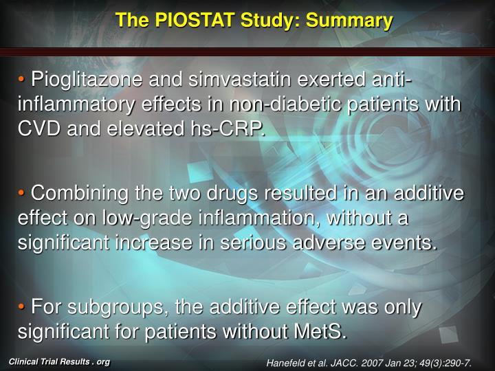 The PIOSTAT Study: Summary