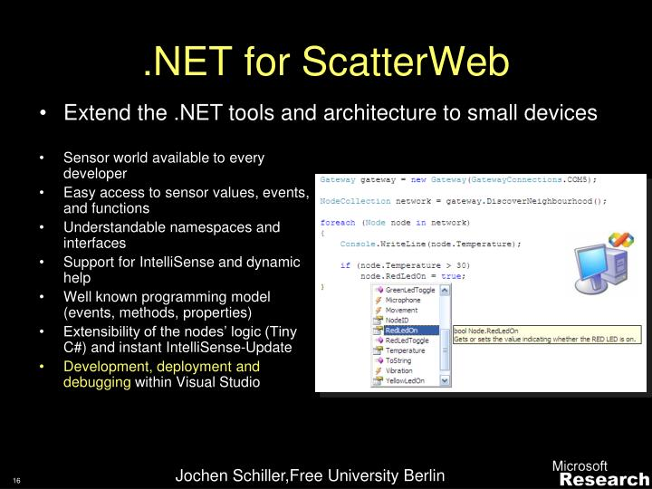 .NET for ScatterWeb