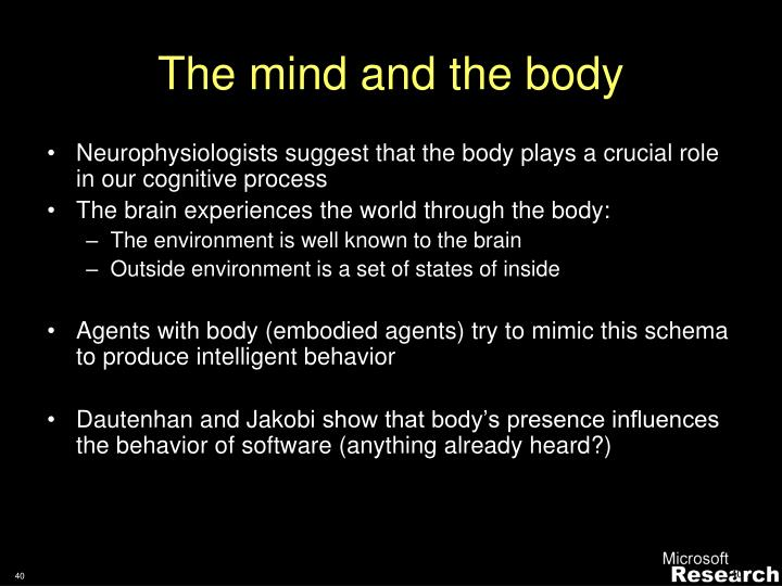 The mind and the body