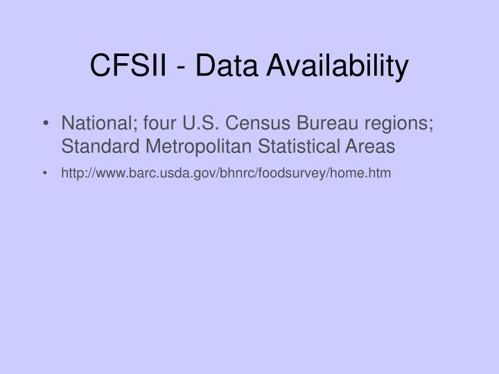 CFSII - Data Availability