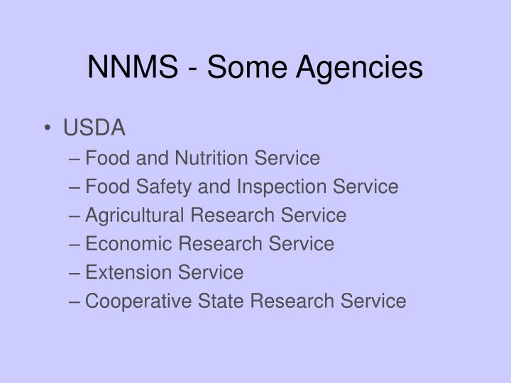 NNMS - Some Agencies