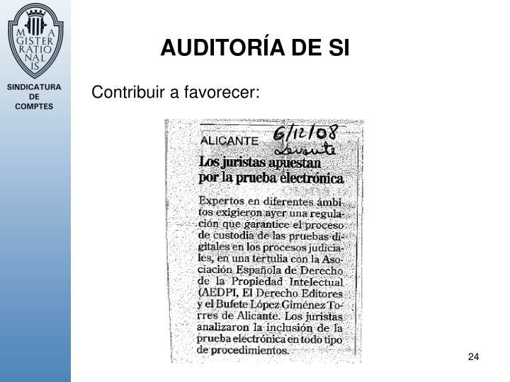 AUDITORÍA DE SI