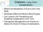 diabetes long term complications