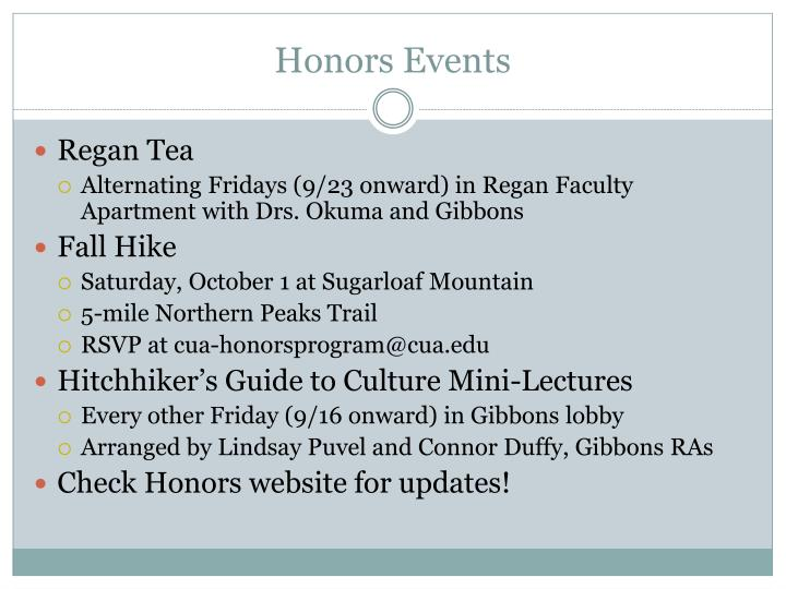 Honors Events