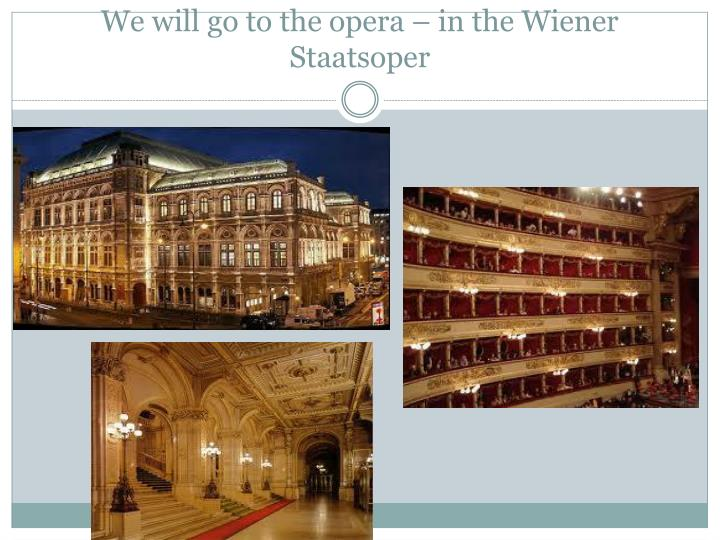 We will go to the opera – in the Wiener