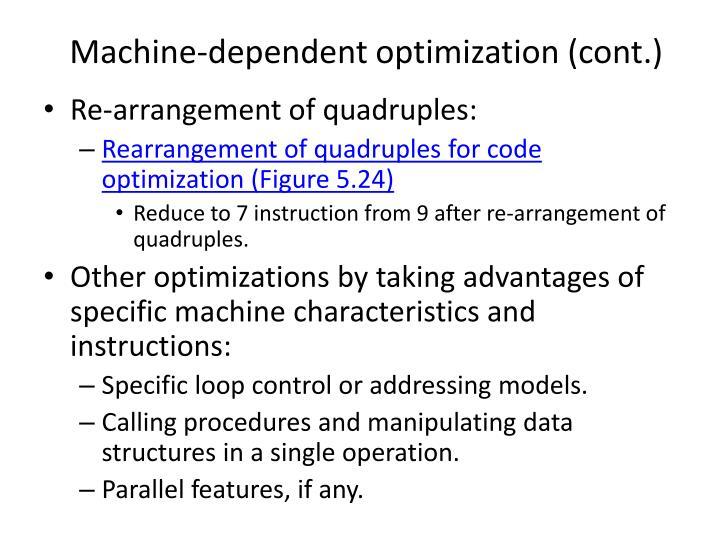 Machine-dependent optimization (cont.)