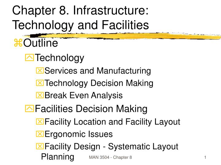 chapter 8 infrastructure technology and facilities n.